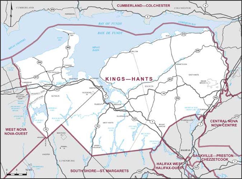 Kings County California Map.Kings Hants Maps Corner Elections Canada Online