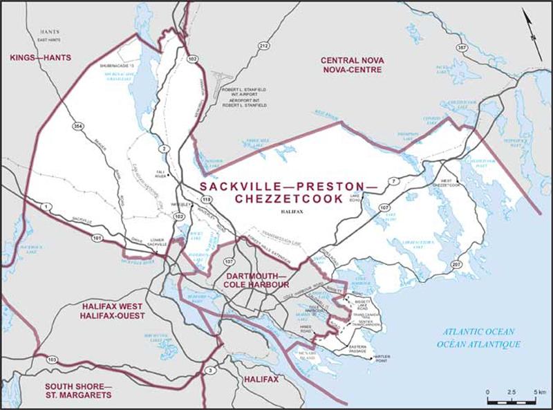 Sackville–Preston–Chezzetcook | Maps Corner | Elections Canada Online