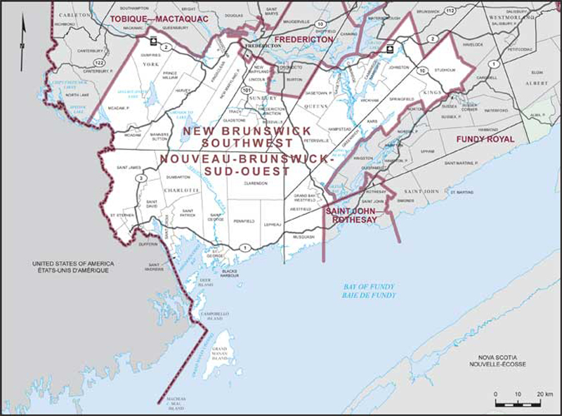 New Brunswick Southwest | Maps Corner | Elections Canada Online