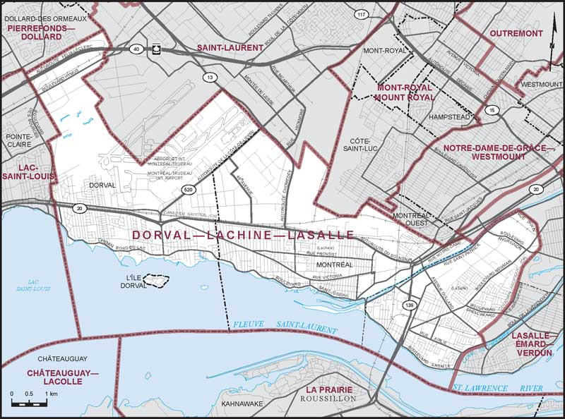 DorvalLachineLaSalle Maps Corner Elections Canada Online