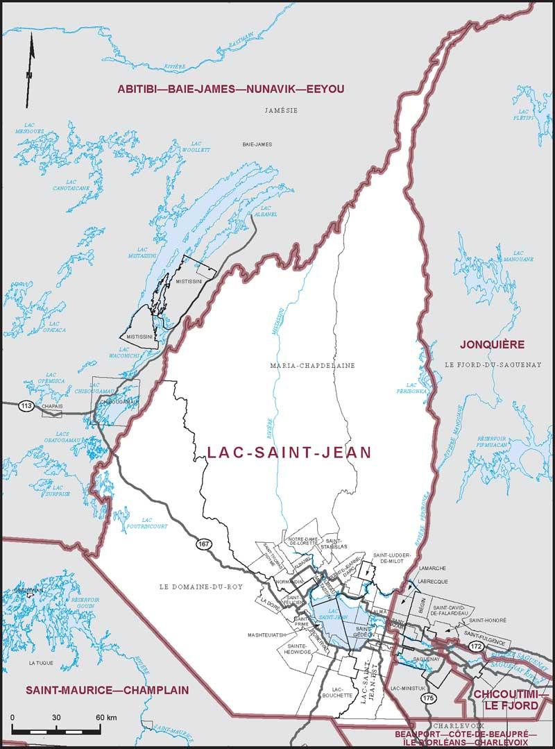 lac saint jean maps corner elections canada online
