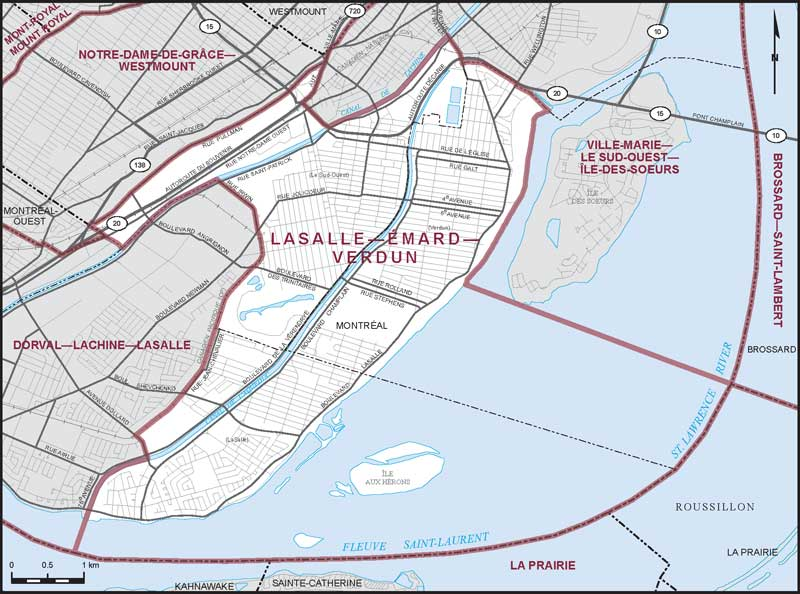 LaSallemardVerdun Maps Corner Elections Canada Online