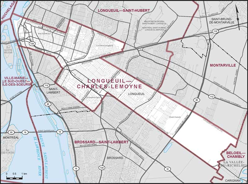 maps chemin chambly longueuil
