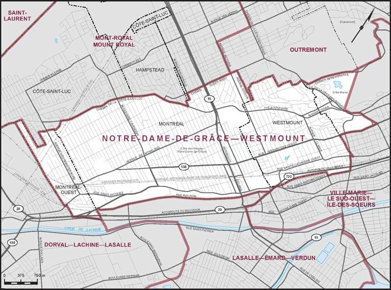 NotreDamedeGrceWestmount Maps Corner Elections Canada Online