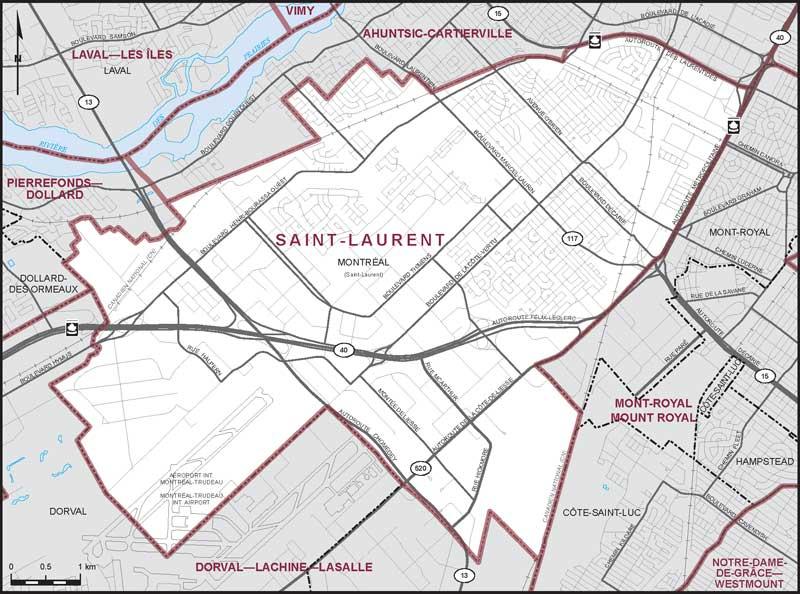 SaintLaurent Maps Corner Elections Canada Online