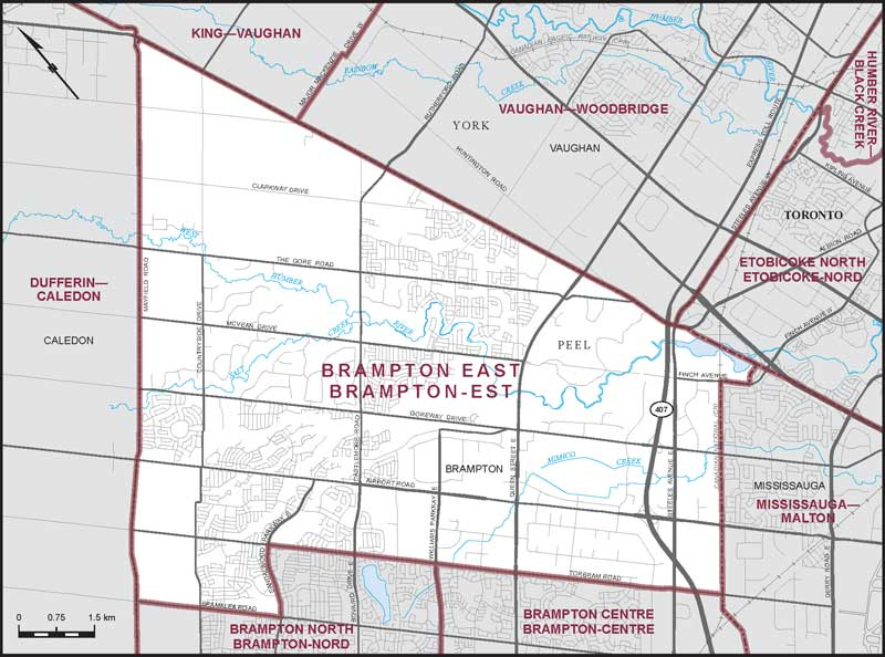 Brampton East | Maps Corner | Elections Canada Online