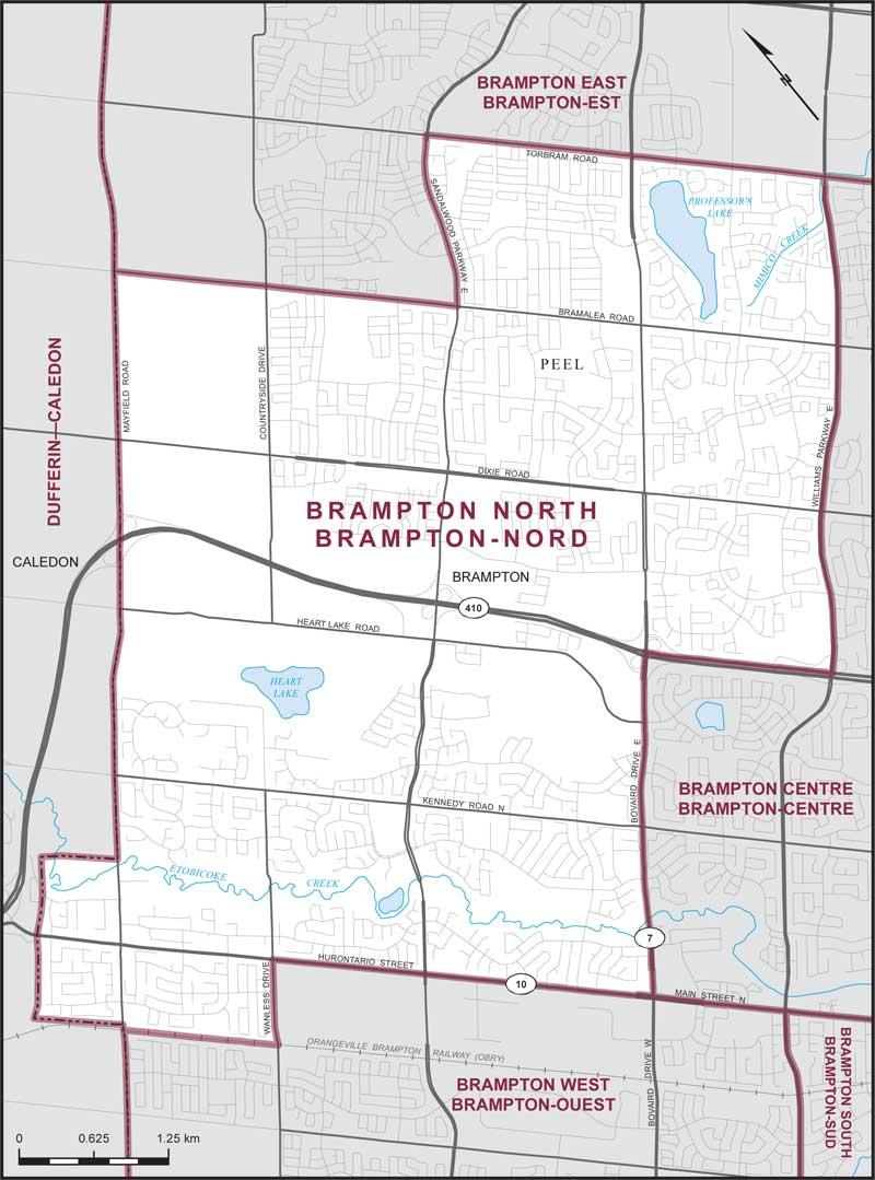 Brampton North | Maps Corner | Elections Canada Online