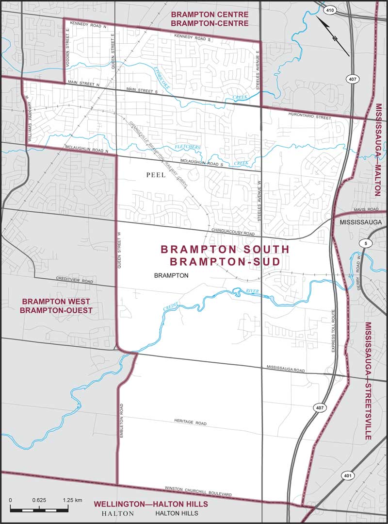 Brampton South | Maps Corner | Elections Canada Online