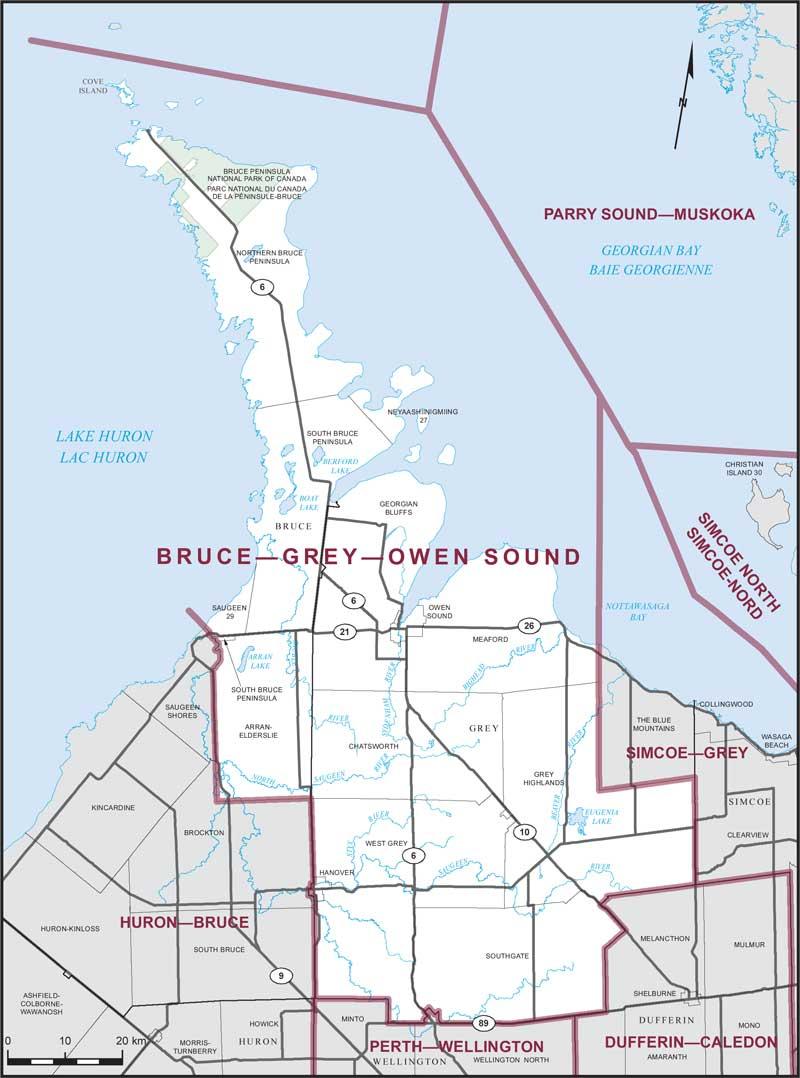 BruceGreyOwen Sound Maps Corner Elections Canada Online