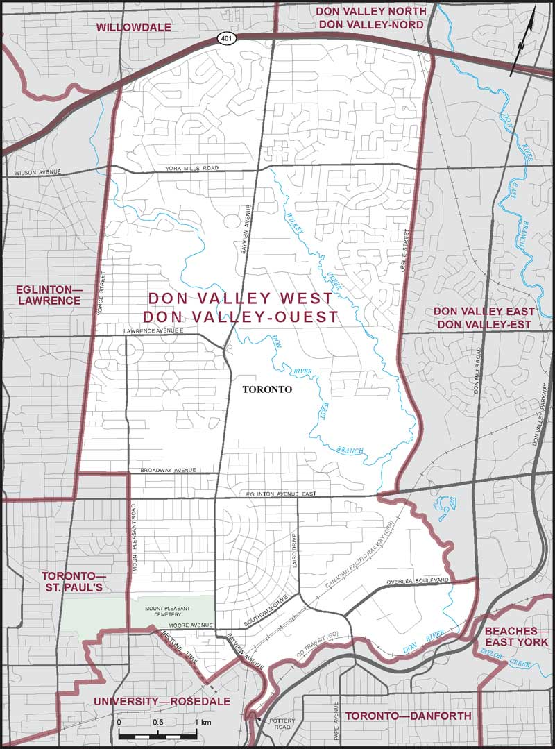 Map Of Canada East And West.Don Valley West Maps Corner Elections Canada Online