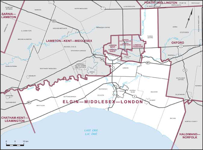 ElginMiddlesexLondon Maps Corner Elections Canada Online