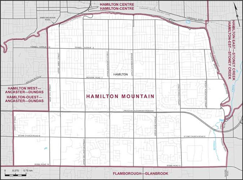 Map Of Canada Hamilton.Hamilton Mountain Maps Corner Elections Canada Online