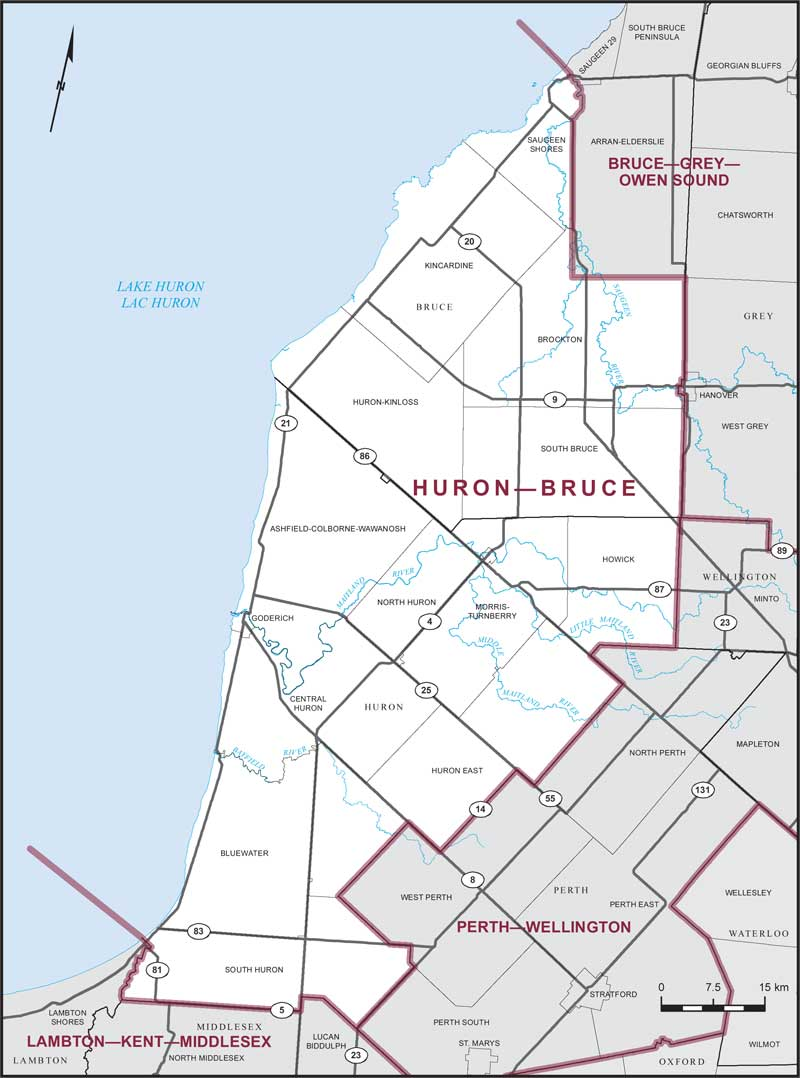 Huron–Bruce | Maps Corner | Elections Canada Online on
