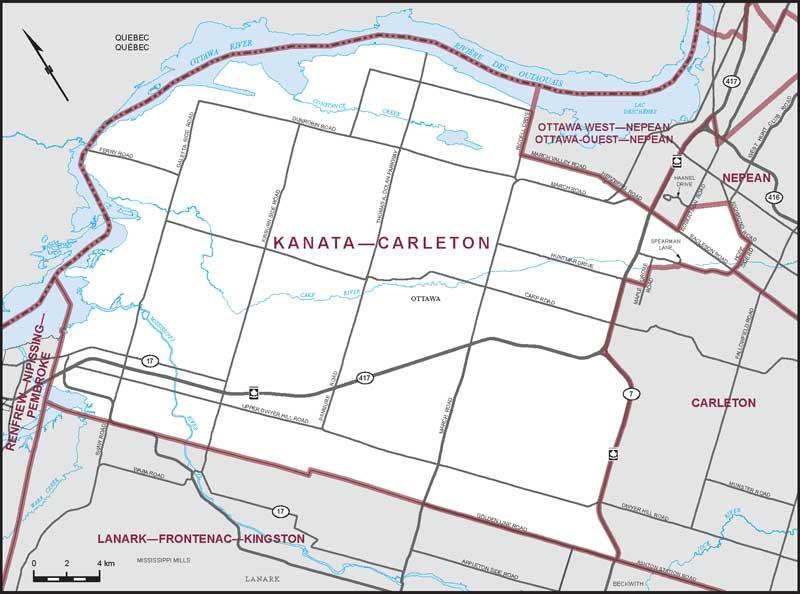 North Arrow On Map Of Canada.Kanata Carleton Maps Corner Elections Canada Online