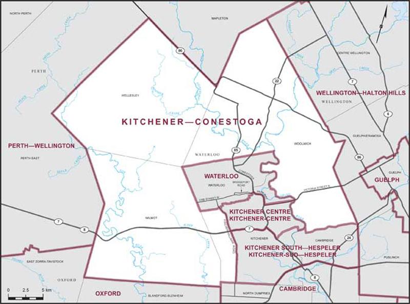 Map Of Canada Kitchener.Kitchener Conestoga Maps Corner Elections Canada Online