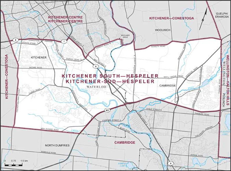 Kitchener SouthHespeler Maps Corner Elections Canada Online