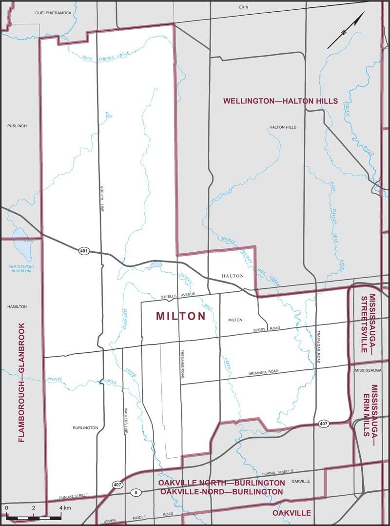 Milton Maps Corner Elections Canada Online