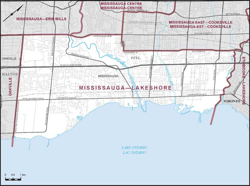 Mississauga Lakeshore Maps Corner Elections Canada Online