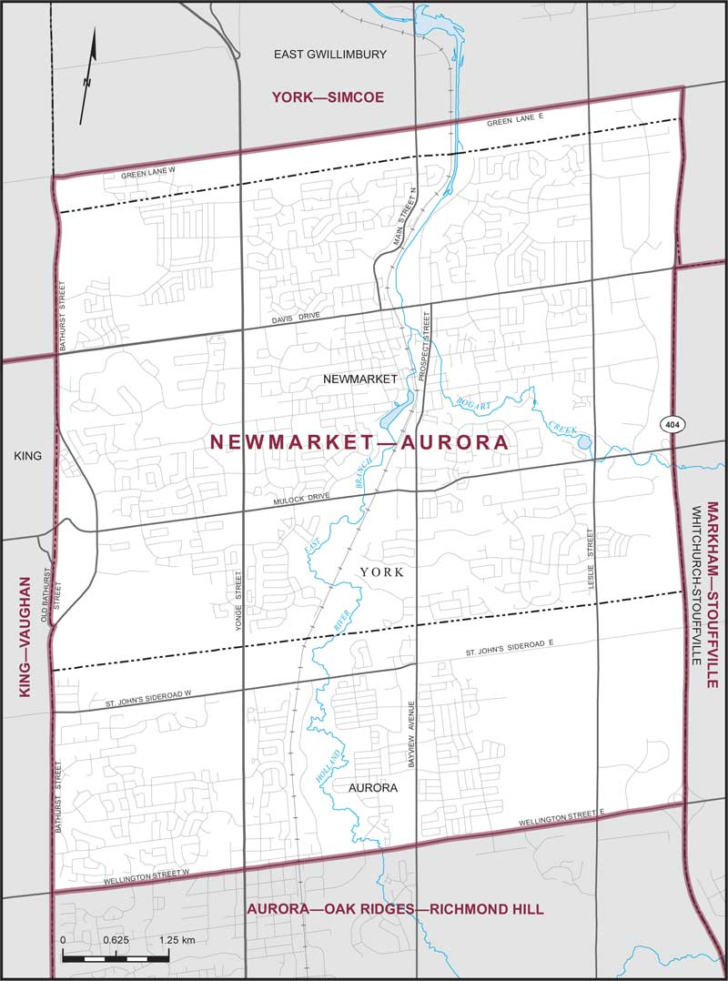 NewmarketAurora Maps Corner Elections Canada Online