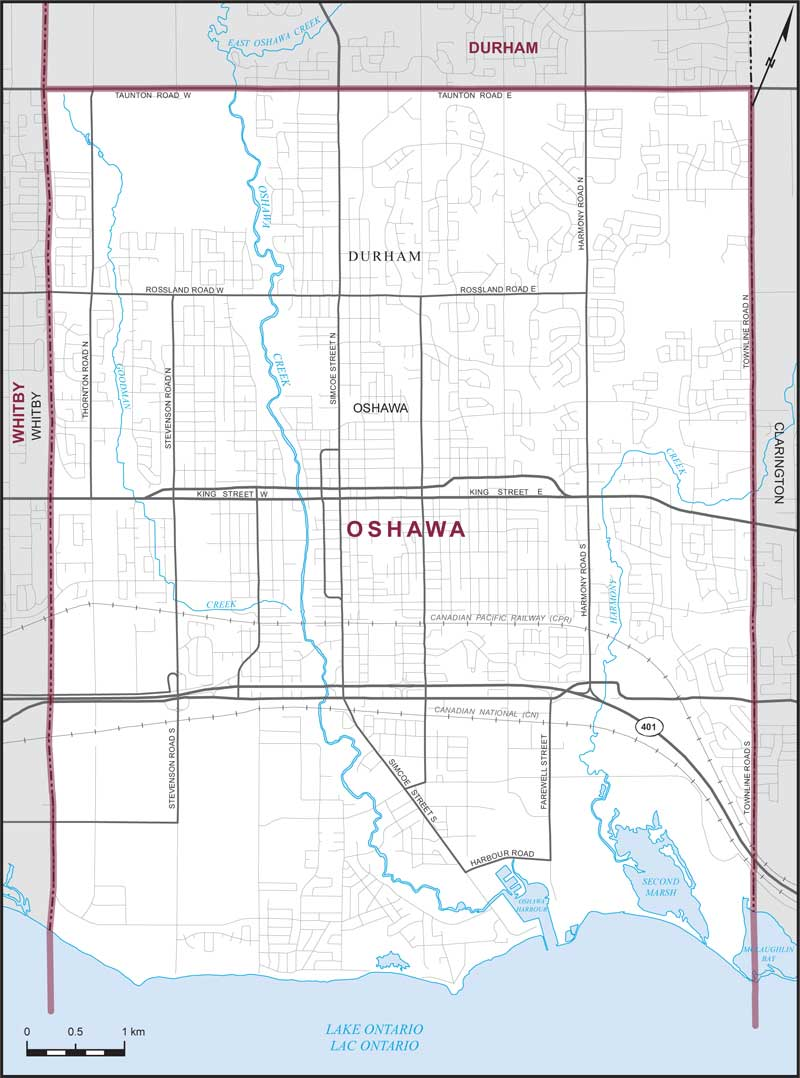 Oshawa Maps Corner Elections Canada Online - Maps of ontario canada