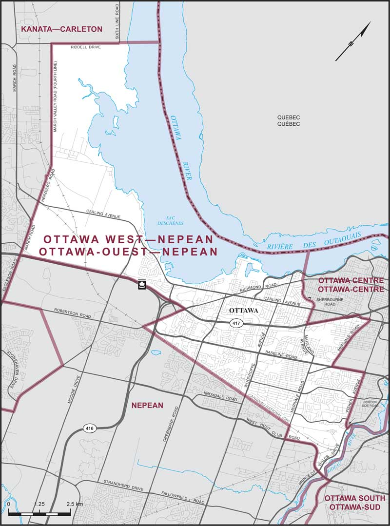 Ottawa West–Nepean | Maps Corner | Elections Canada Online