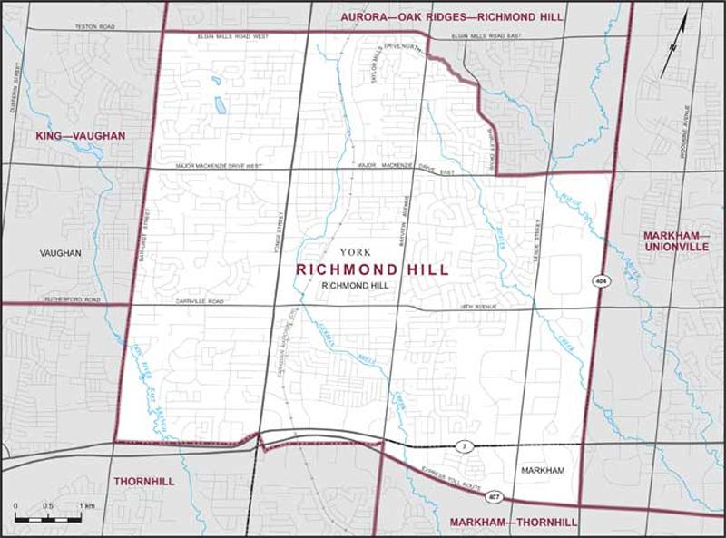 Richmond Hill Maps Corner Elections Canada Online