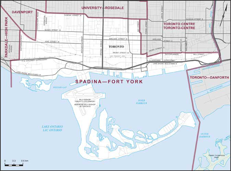Map Of York Canada.Spadina Fort York Maps Corner Elections Canada Online