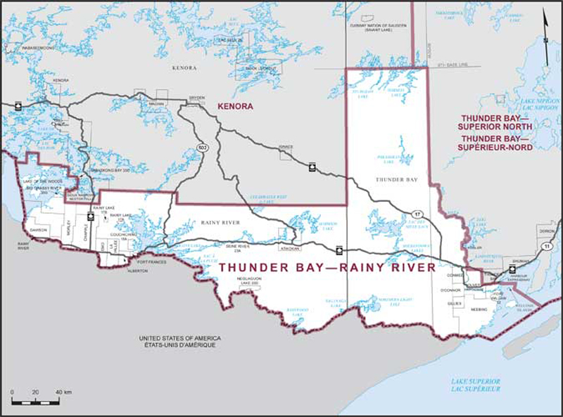 Thunder BayRainy River Maps Corner Elections Canada Online