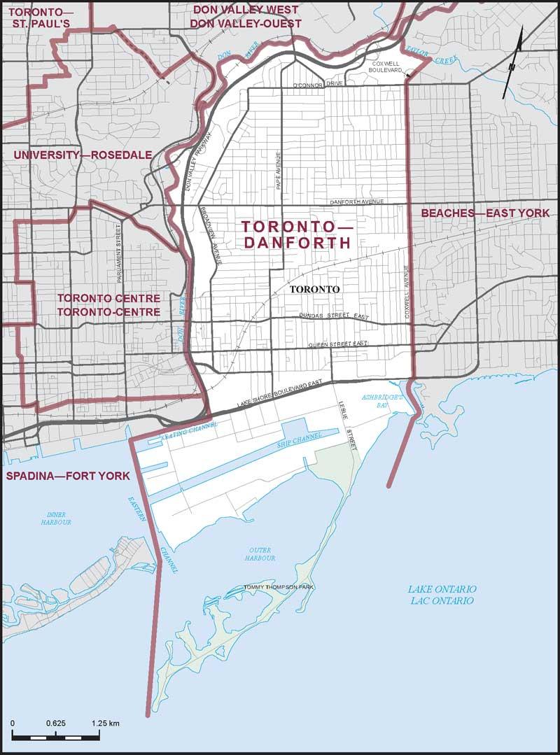 Map Of Canada Toronto Ontario.Toronto Danforth Maps Corner Elections Canada Online