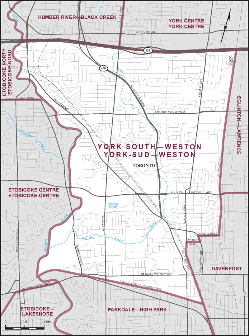 Map Of York Canada.York South Weston Maps Corner Elections Canada Online
