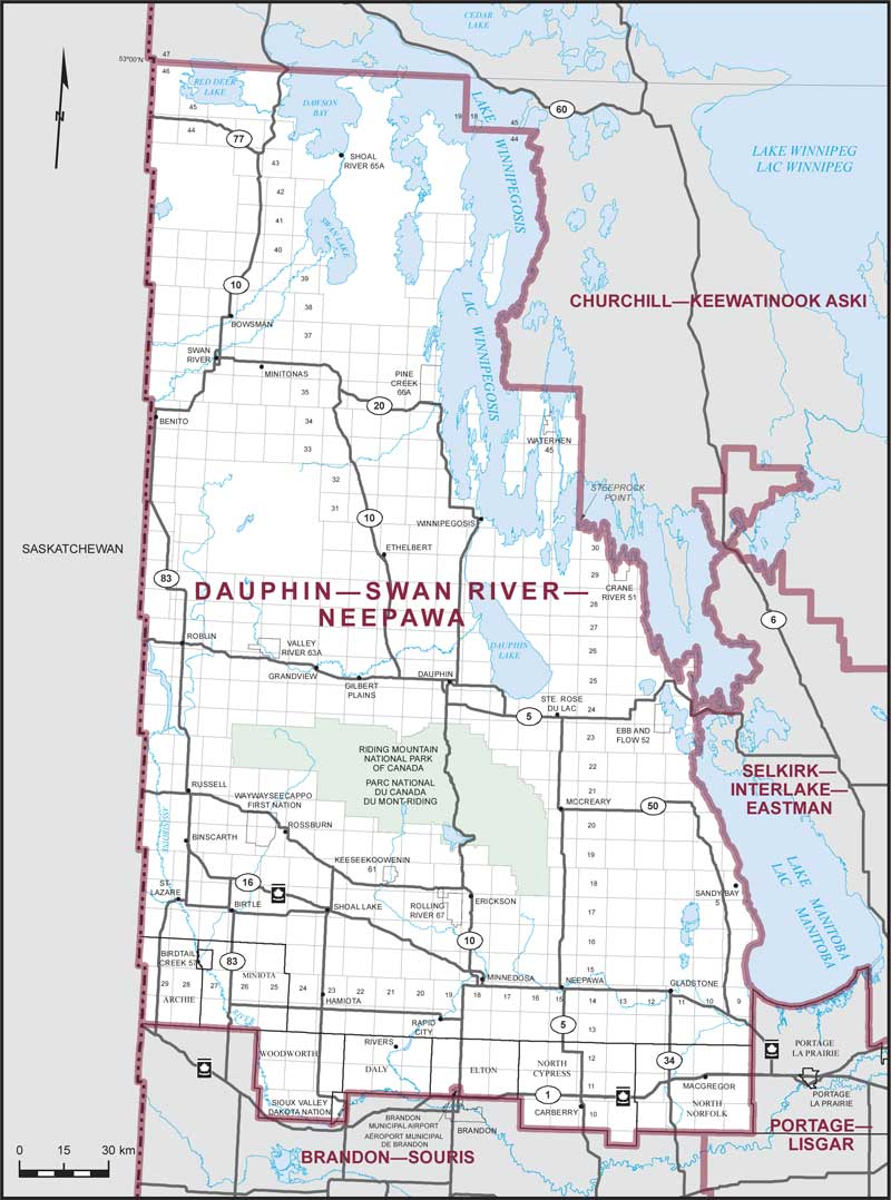 DauphinSwan RiverNeepawa Maps Corner Elections Canada Online
