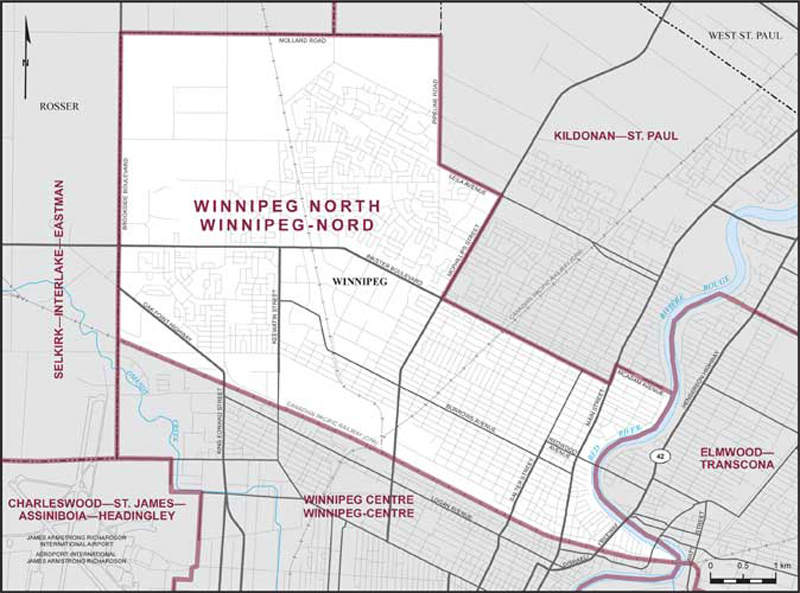 Winnipeg On Map Of Canada.Winnipeg North Maps Corner Elections Canada Online