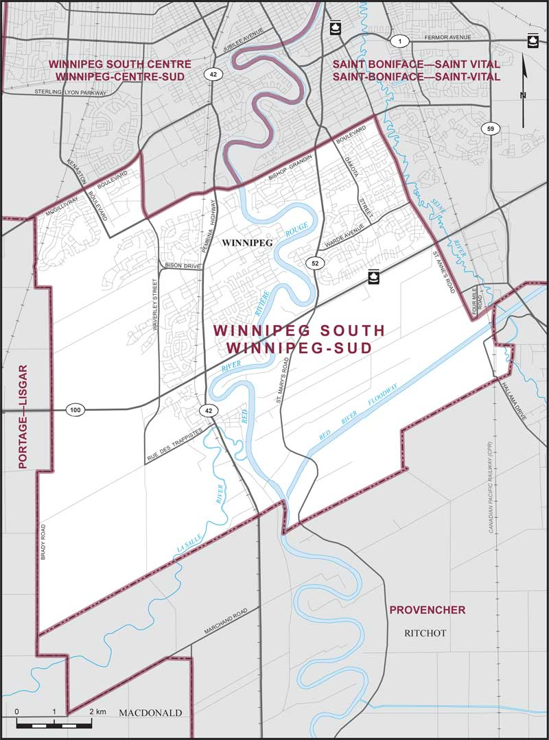 Winnipeg South Maps Corner Elections Canada Online