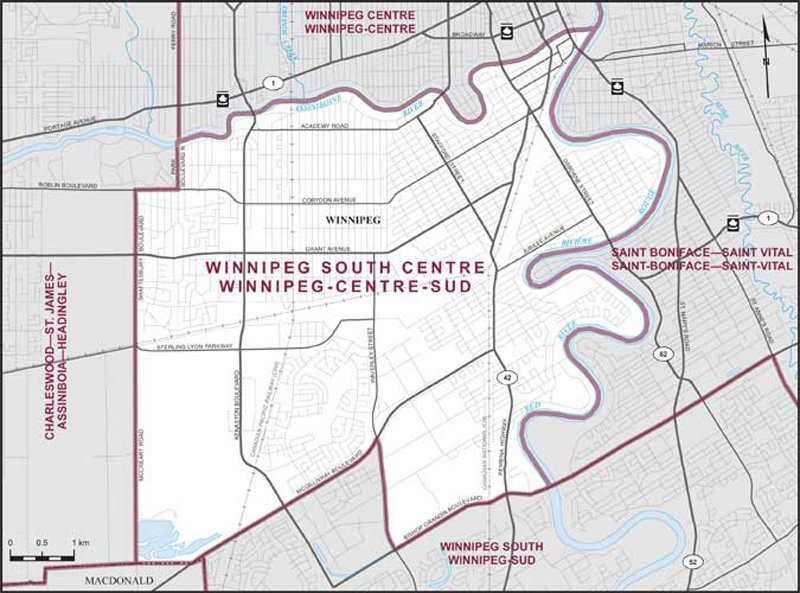 Winnipeg South Centre Maps Corner Elections Canada Online