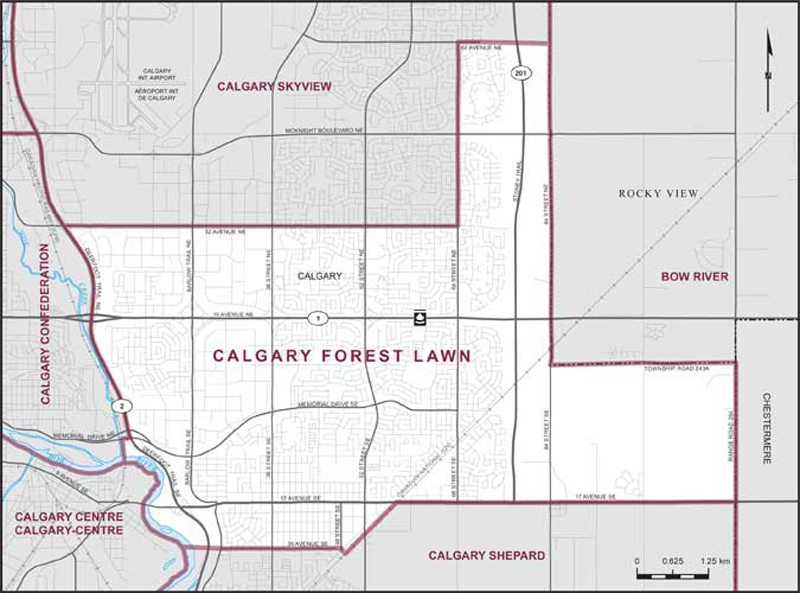 Calgary Forest Lawn Maps Corner Elections Canada Online