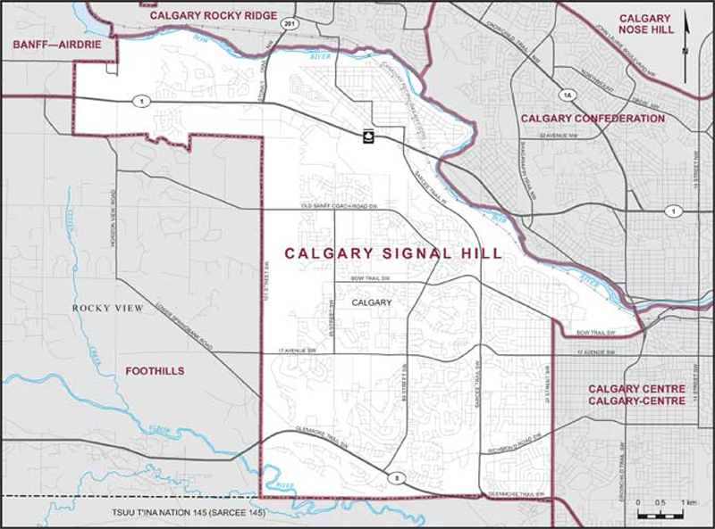 Calgary Signal Hill Maps Corner Elections Canada Online