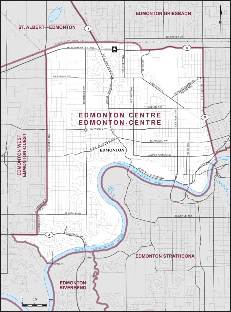 Map – Edmonton Centre, Alberta