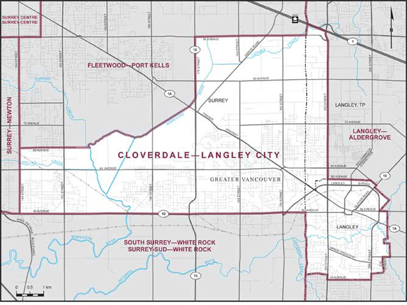 CloverdaleLangley City Maps Corner Elections Canada Online