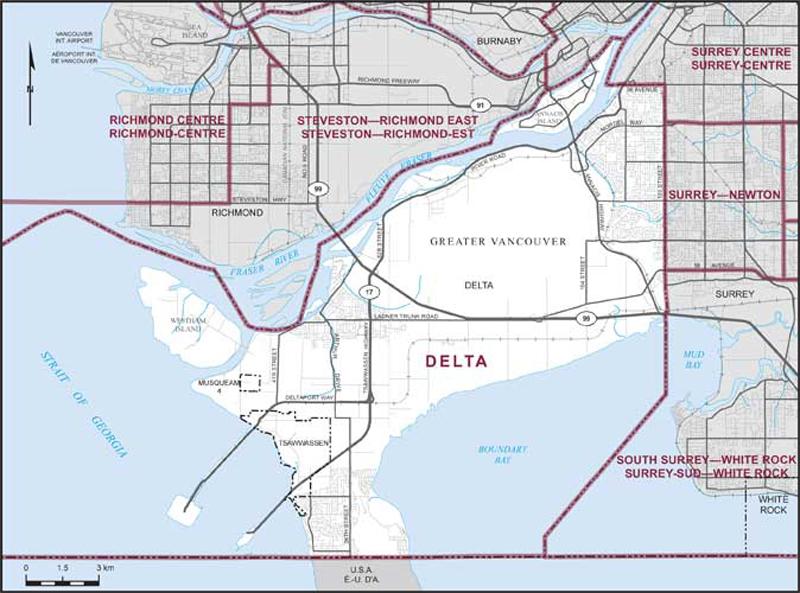 Surrey Canada Map.Delta Maps Corner Elections Canada Online
