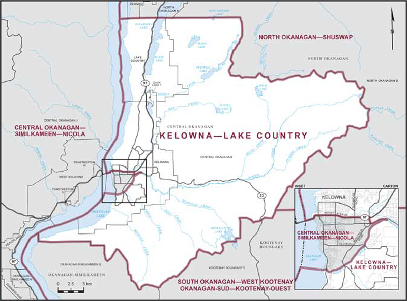 KelownaLake Country Maps Corner Elections Canada Online