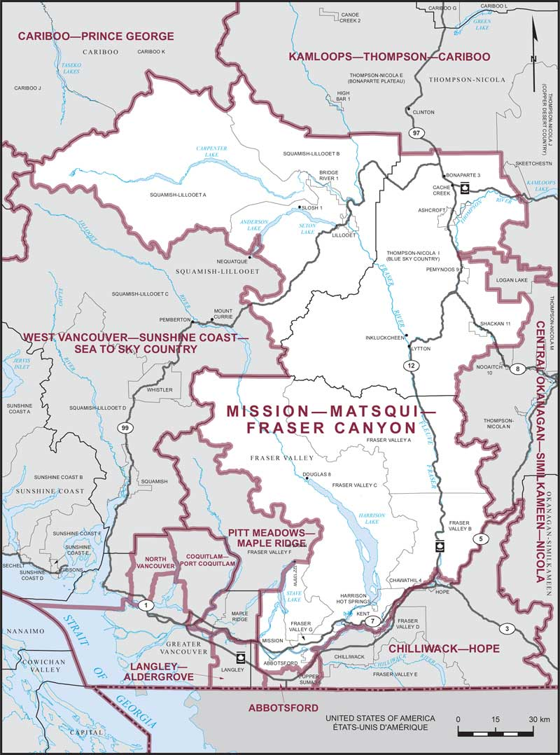 MissionMatsquiFraser Canyon Maps Corner Elections Canada Online - Us canyons boundary map