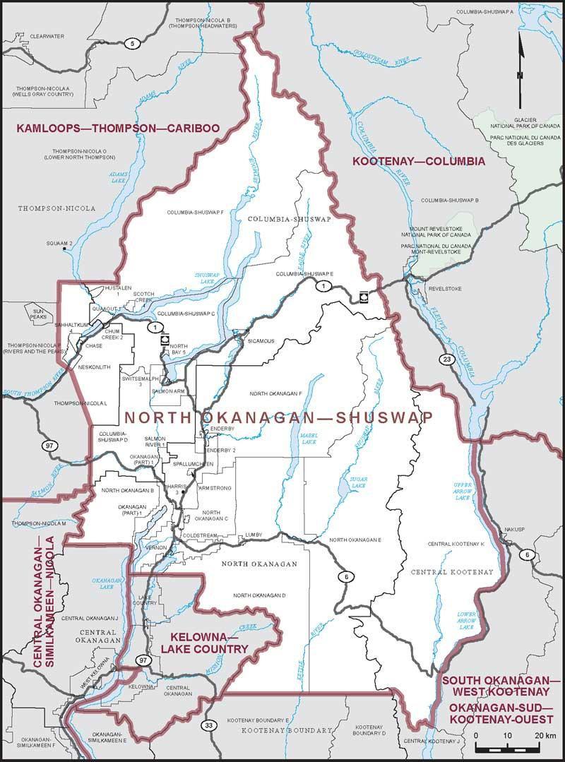 North Arrow On Map Of Canada.North Okanagan Shuswap Maps Corner Elections Canada Online