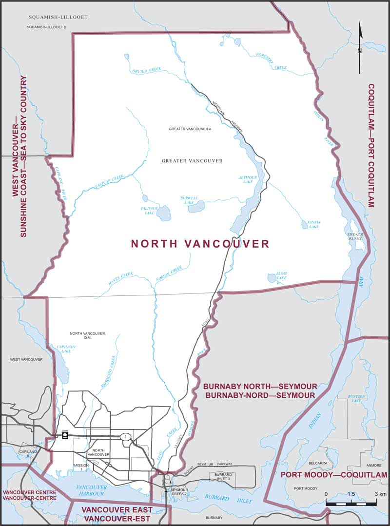 Map Of Canada Line Vancouver.North Vancouver Maps Corner Elections Canada Online