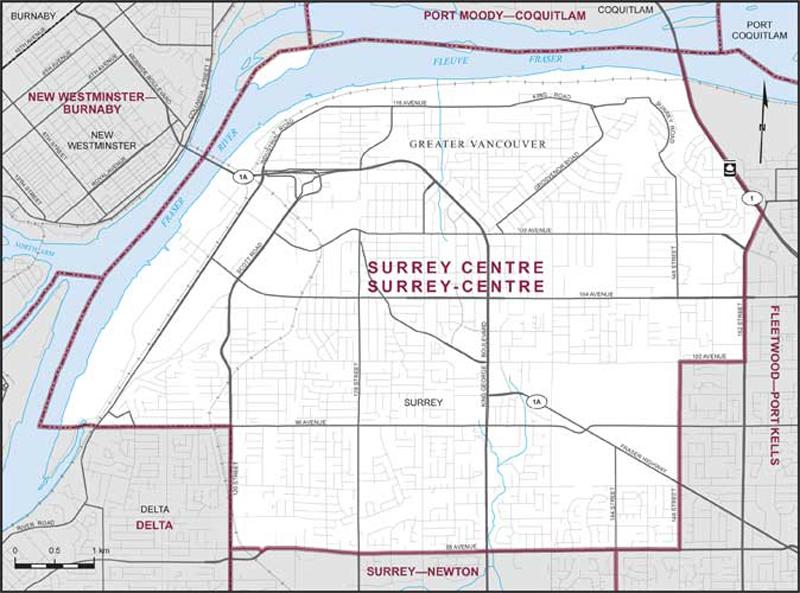 Surrey Centre  Maps Corner  Elections Canada Online