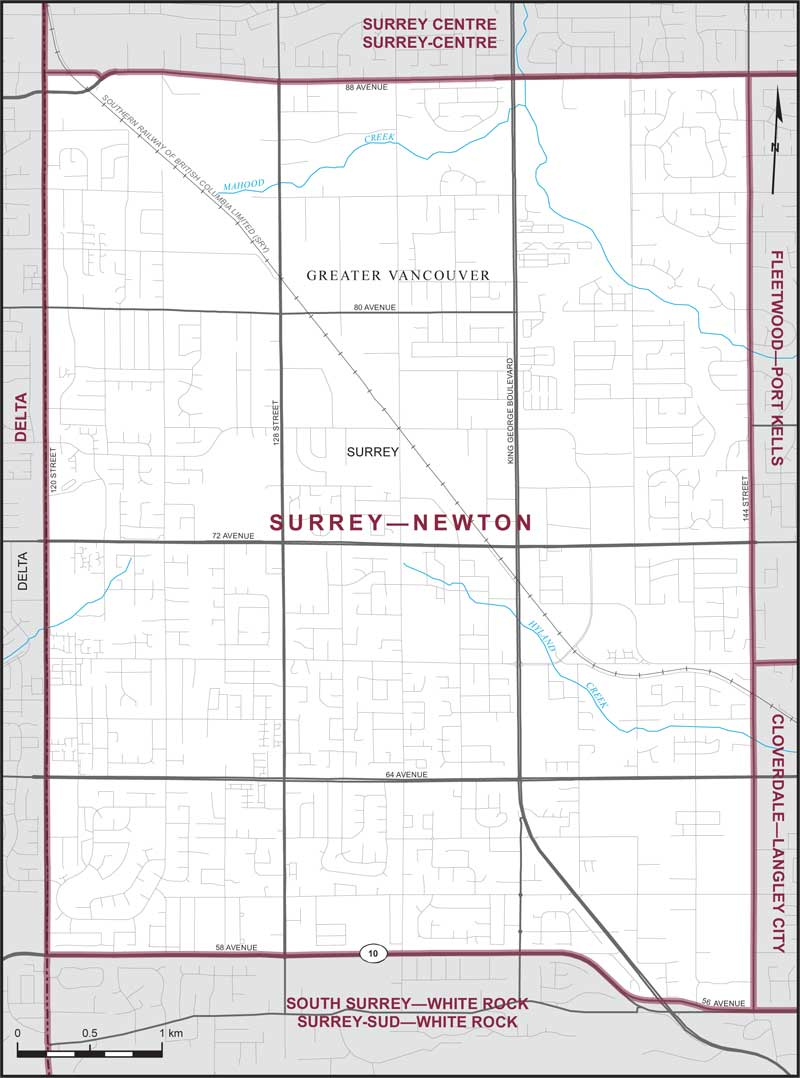 SurreyNewton Maps Corner Elections Canada Online