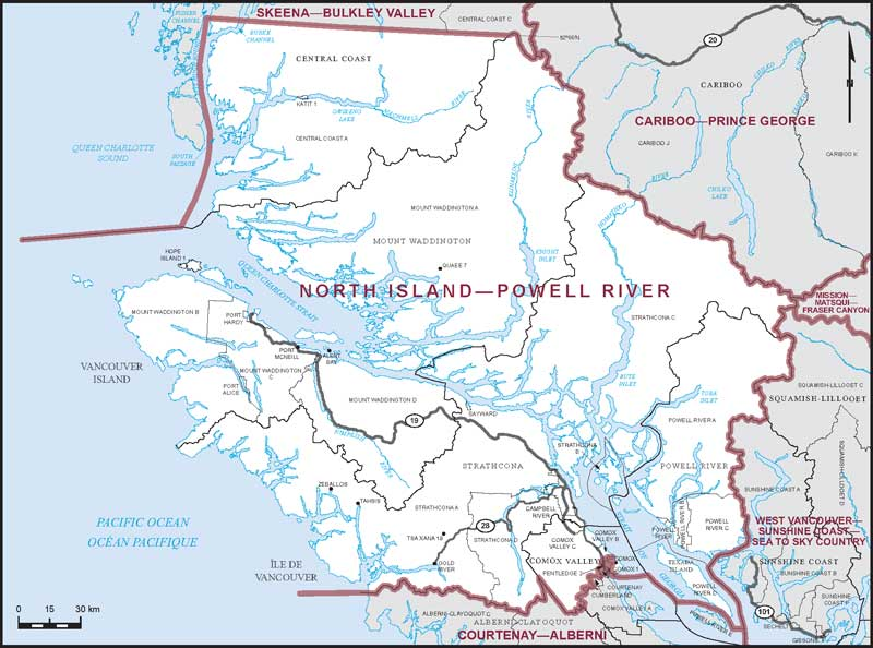 North Island–Powell River | Maps Corner | Elections Canada Online
