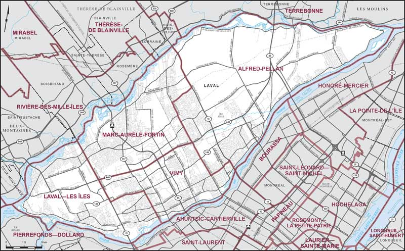 City of Laval Maps Corner Elections Canada Online