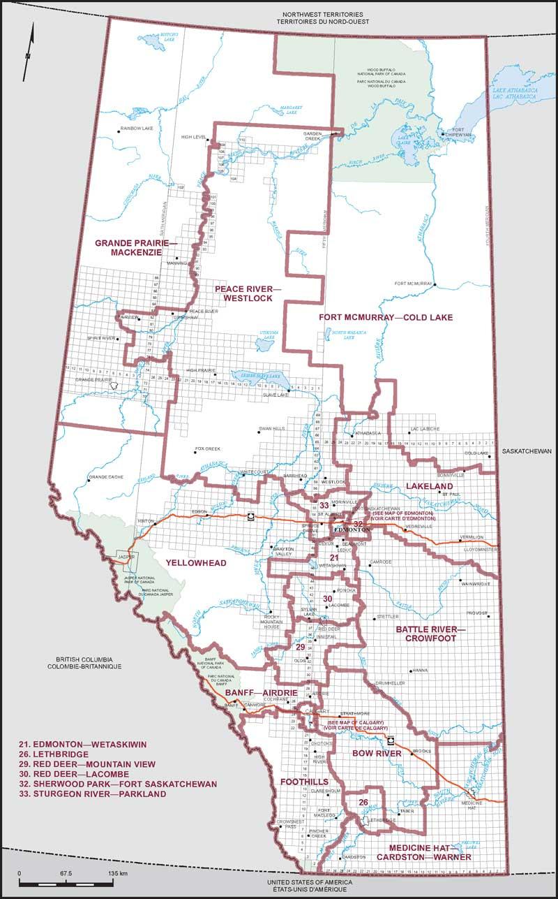 map of alberta. map of alberta  elections canada online