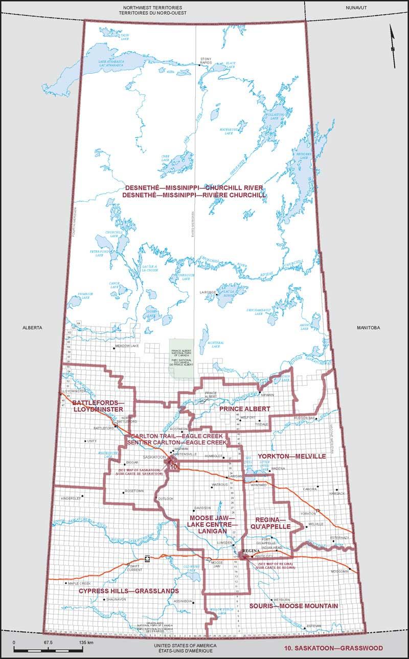 Map of Saskatchewan | Elections Canada Online