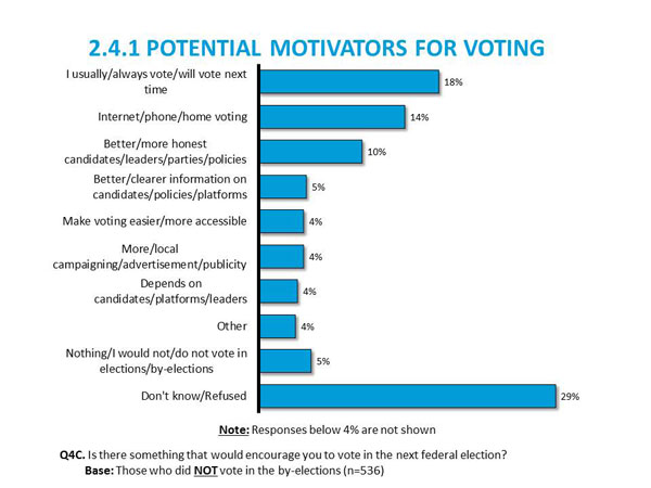 2.4.1	Potential Motivators for Voting